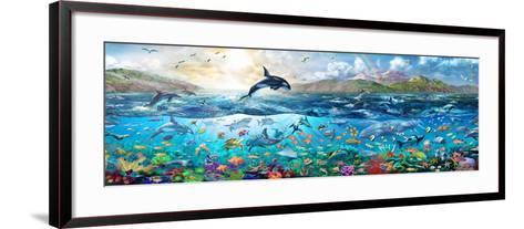 Ocean Panorama-Adrian Chesterman-Framed Art Print