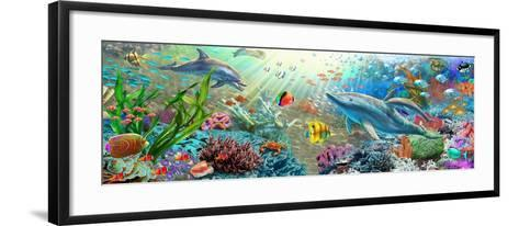 Land and Water Utopia (Variant 2)-Adrian Chesterman-Framed Art Print