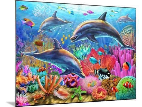 Dolphin Fun-Adrian Chesterman-Mounted Art Print