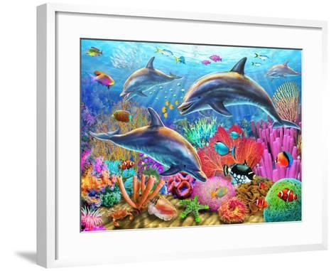 Dolphin Fun-Adrian Chesterman-Framed Art Print