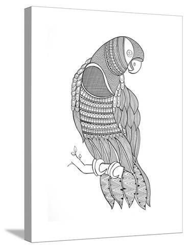 Bird Macaw-Neeti Goswami-Stretched Canvas Print
