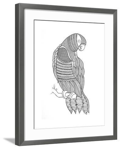 Bird Macaw-Neeti Goswami-Framed Art Print