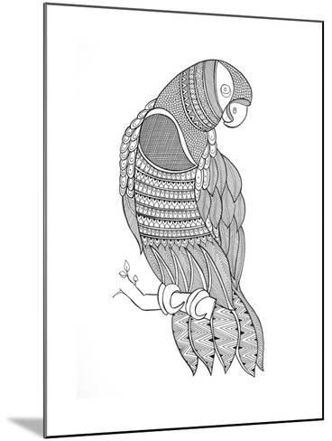 Bird Macaw-Neeti Goswami-Mounted Art Print