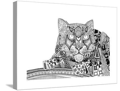 Snow Leopard (Variant 1)-Sharon Turner-Stretched Canvas Print