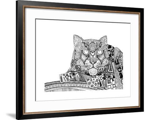 Snow Leopard (Variant 1)-Sharon Turner-Framed Art Print