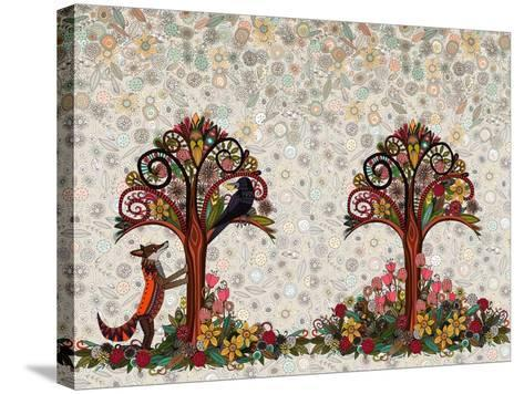 The Fox and the Crow-Sharon Turner-Stretched Canvas Print