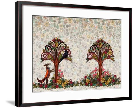The Fox and the Crow-Sharon Turner-Framed Art Print