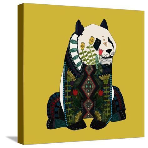 Sitting Panda-Sharon Turner-Stretched Canvas Print