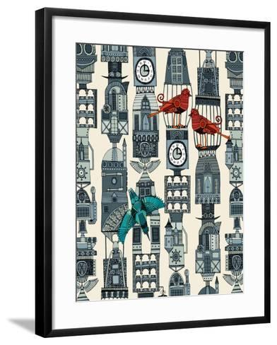 Steampunk Towers-Sharon Turner-Framed Art Print