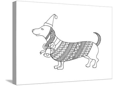 Christmas Dog-Neeti Goswami-Stretched Canvas Print