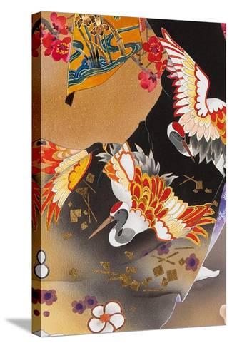Kimono Tsuru-Haruyo Morita-Stretched Canvas Print