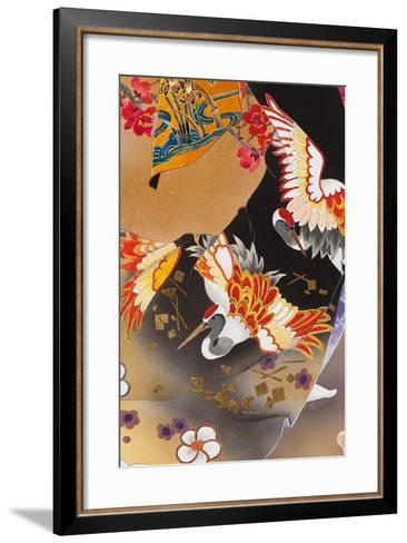 Kimono Tsuru-Haruyo Morita-Framed Art Print