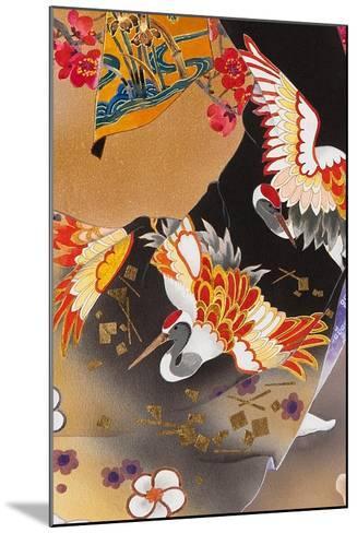 Kimono Tsuru-Haruyo Morita-Mounted Art Print
