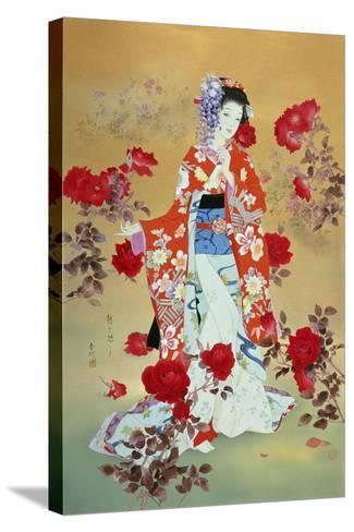 Bara-Haruyo Morita-Stretched Canvas Print
