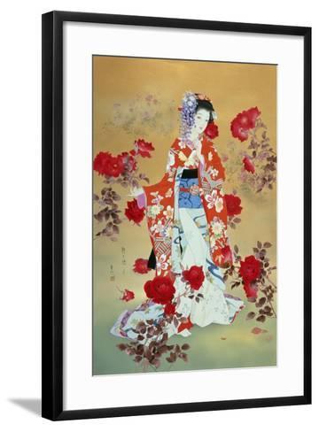 Bara-Haruyo Morita-Framed Art Print