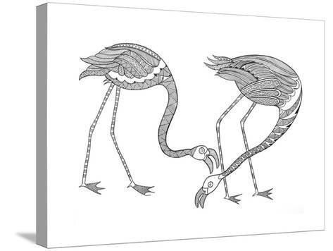 Bird Flamingos 1-Neeti Goswami-Stretched Canvas Print