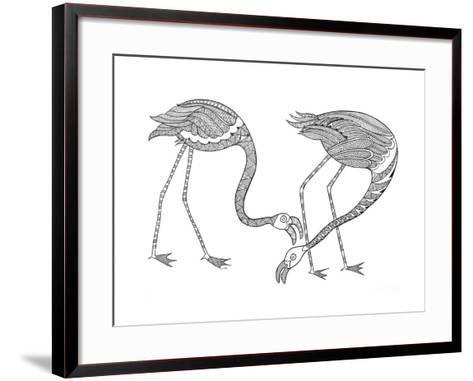 Bird Flamingos 1-Neeti Goswami-Framed Art Print