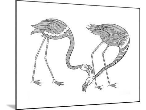 Bird Flamingos 1-Neeti Goswami-Mounted Art Print