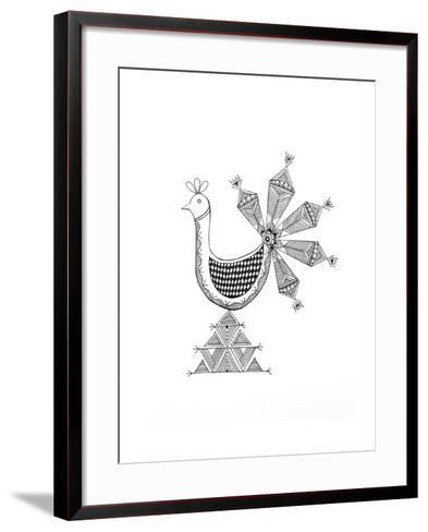 Bird Peacock 1-Neeti Goswami-Framed Art Print