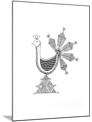 Bird Peacock 1-Neeti Goswami-Mounted Art Print