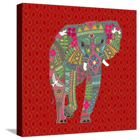 Painted Elephant Diamond-Sharon Turner-Stretched Canvas Print