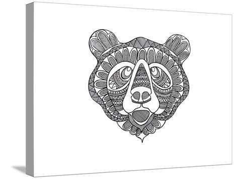 Animal Head Bear-Neeti Goswami-Stretched Canvas Print