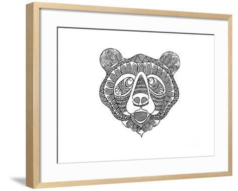 Animal Head Bear-Neeti Goswami-Framed Art Print