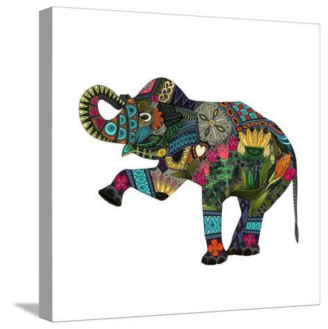 Asian Elephant-Sharon Turner-Stretched Canvas Print