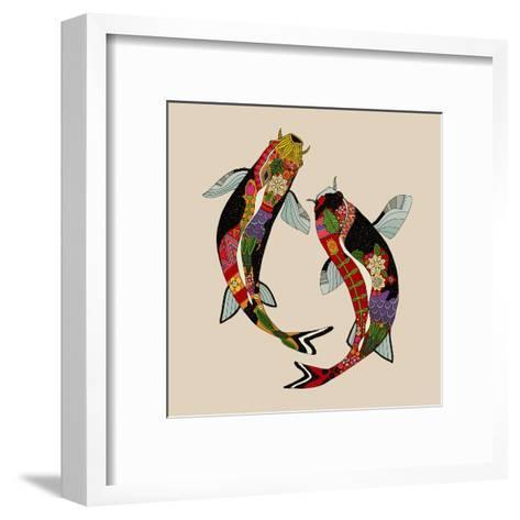 Two Koi-Sharon Turner-Framed Art Print
