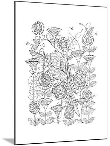 Parrot-Neeti Goswami-Mounted Art Print