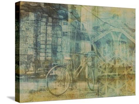 City Collage - Paris 01-Joost Hogervorst-Stretched Canvas Print