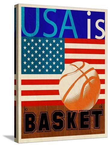 USA Is Basketball-Joost Hogervorst-Stretched Canvas Print