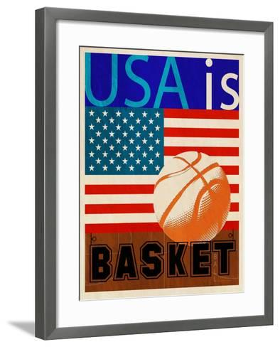 USA Is Basketball-Joost Hogervorst-Framed Art Print