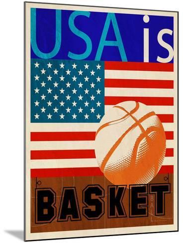 USA Is Basketball-Joost Hogervorst-Mounted Art Print