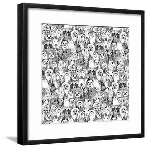 Love and Hugs-Sharon Turner-Framed Art Print