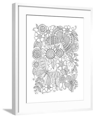 Insect Butterflies-Neeti Goswami-Framed Art Print