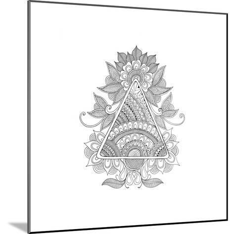 Shape Pattern 2-Neeti Goswami-Mounted Art Print