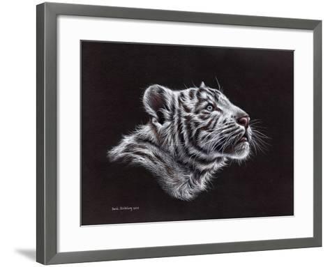 White Tiger Pastel-Sarah Stribbling-Framed Art Print