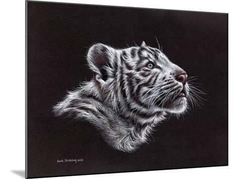 White Tiger Pastel-Sarah Stribbling-Mounted Art Print