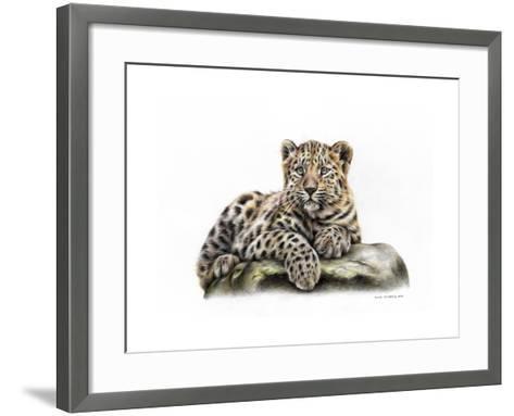Leopard Cub-Sarah Stribbling-Framed Art Print