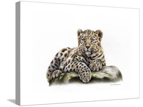 Leopard Cub-Sarah Stribbling-Stretched Canvas Print