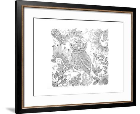 Owl 5-Neeti Goswami-Framed Art Print