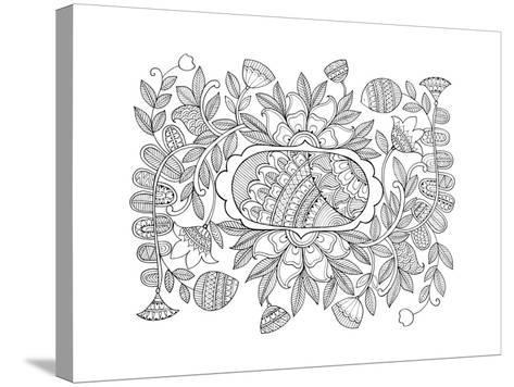 Label Pattern 2-Neeti Goswami-Stretched Canvas Print