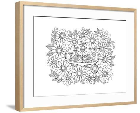 Label Pattern 3-Neeti Goswami-Framed Art Print
