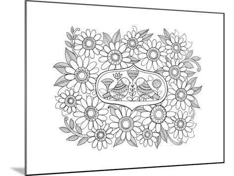 Label Pattern 3-Neeti Goswami-Mounted Art Print