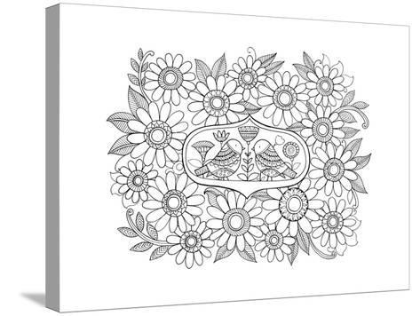 Label Pattern 3-Neeti Goswami-Stretched Canvas Print