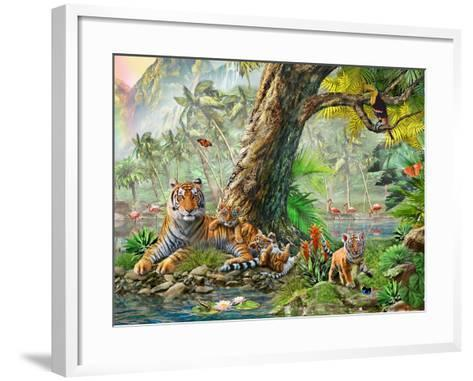 Land and Water Utopia (Variant 3)-Adrian Chesterman-Framed Art Print