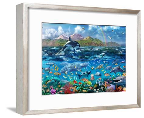 Ocean Scene-Adrian Chesterman-Framed Art Print