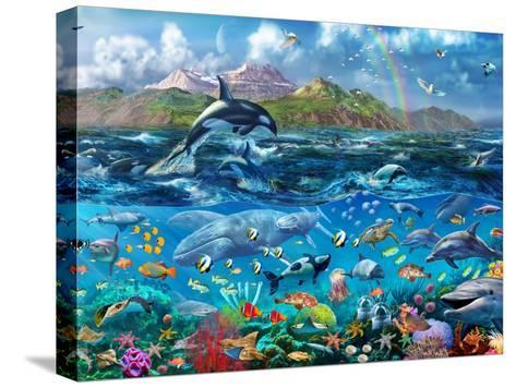 Ocean Scene-Adrian Chesterman-Stretched Canvas Print