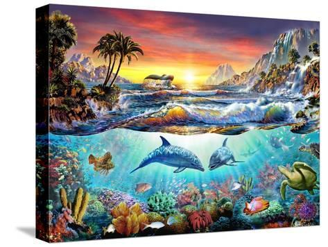 Paradise Bay-Adrian Chesterman-Stretched Canvas Print